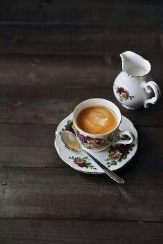 Vintage morning coffee