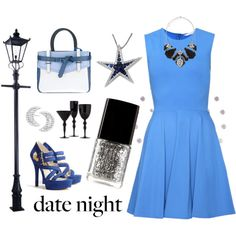 """""""Blue Night"""" by polka-frog on Polyvore"""