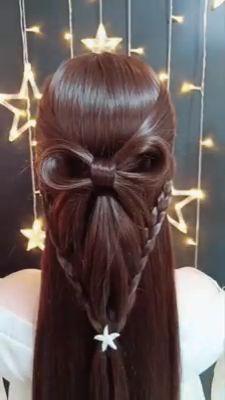 wedding hairstyles easy hairstyles hairstyles for school hairstyles diy hairstyles for round faces p Popular Hairstyles, Hairstyles For School, Hairstyles With Bangs, Girl Hairstyles, Braided Hairstyles, Wedding Hairstyles, Hairstyles Videos, Pretty Hairstyles, Hair Upstyles