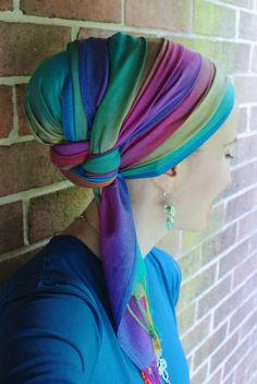A stunning, multicolored ombre beauty, the possibilities with this scarf are virtually limitless! Over the Rainbow by Wrapunzel
