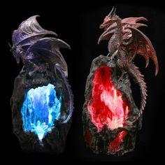 Fantasy Geode Dragon LED Back Flow Incense Burner Our fantasy and gothic dragon…