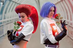Team Rocket (Jessie & James) cosplay! Definitely one of the best we've seen so far. It's brilliant! #TeamRocket #Pokemon #cosplay #ロケット団 #ポケモン #コスプレ