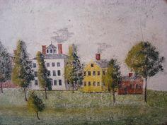 Mural Wall Art, Mural Painting, Watercolor Paintings, Watercolors, Swedish Wallpaper, Primitive Painting, Paint Designs, Painting Techniques, Illustration Art
