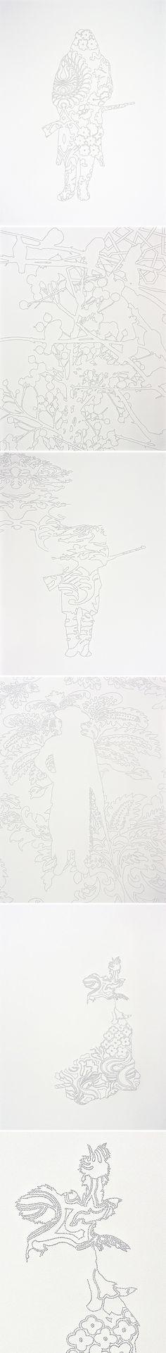 wendy kawabata (handmade sewing needle perforations through paper) <3