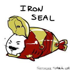 baby seal avengers #ironman