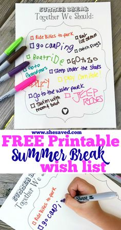 Track your family Summer Wish List with our FREE Family Summer printable! This is a great way to set summer goals and plans for family adventure and fun! Bullet Journal Printables, Bullet Journals, Fact Family Worksheet, Fact Families, Holiday Places, Summer Goals, Free Summer, Travel Goals, Easy Gifts