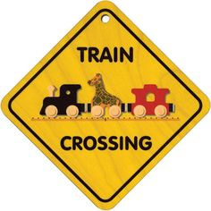 Train Crossing Sign  Click to order http://www.americantoyboutique.com/item_901/Train-Crossing-Sign.htm Made in America $10.30