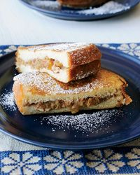 Brioche French Toast Stuffed with Apple, Raisins and Pecans
