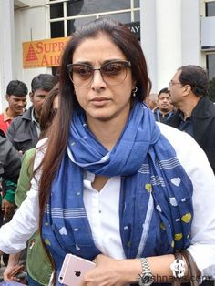 New Delhi: Actress Tabu arrives in Jodhpur to appear before a court in connection with 1998 black buck poaching case on Jan 26, 2017.