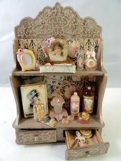 "Decorative ladies shop cabinet (or for a lady's bedroom) by Gloria Kent ""Memories""."