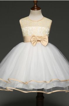 Kids Floral Lace Flower Girl Dresses Formal Princess