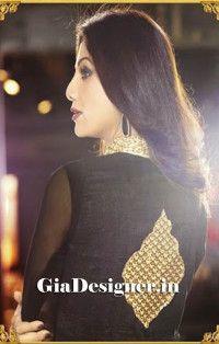 Shilpa Shetty Yellow Black Net Chiffon Anarkali Bollywod Replica Suit2