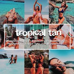 tropical tan vsco filter🌴☀️ works on skin tones, and pictures of beaches Photography Filters, Photography Editing, Photography Tutorials, Photography Classes, Photography Equipment, Outdoor Photography, Photography Business, Digital Photography, Newborn Photography