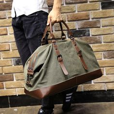 Brand Casual Large Capacity Travel Men's Messenger Bags Portable Handbag Multifunctional Shoulder Bag Canvas Vintage Satchel Bag