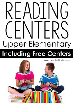 This post shares 10 reading center ideas for upper elementary students that are rigorous and engaging. Several freebies on this post. 6th Grade Reading, Teaching 5th Grade, Middle School Reading, 4th Grade Classroom, Classroom Ideas, Future Classroom, Reading Lessons, Reading Activities, Reading Skills