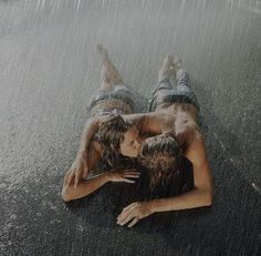 There's Somethin about kissing in the rain...