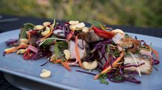 Cam is at Gourmet in the Gardens in Hamilton where he seeks inspiration for his roasted pork belly and Asian slaw salad dish. Pork Rub, Pork Roast, Asian Slaw Salad, Salad Dishes, Red Chilli, Red Cabbage, Fish Sauce, Pork Belly, Spice Mixes