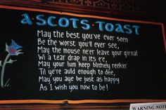 Highlights of Scotland -- A Traditional Scottish Toast Scottish Toast, Scottish Words, Scottish Quotes, Scottish Gaelic, Scottish Tartans, Scottish Phrases, Outlander, Burns Supper, Gaelic Words