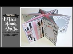 MINI ALBUM EN FORMA DE ESTRELLA (COLABORACION CON SCRAP TENDA) - TUTORIAL | LLUNA NOVA SCRAP - YouTube