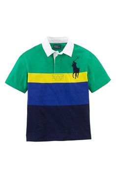 Ralph Lauren Rugby Stripe Jersey Polo (Big Boys) available at #Nordstrom