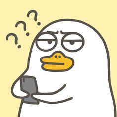 When people keep disturb me . Cute Cartoon Characters, Cartoon Icons, Cute Cartoon Wallpapers, Cartoon Memes, Duck Memes, Duck Wallpaper, Duck Drawing, Huawei Wallpapers, Cute Love Pictures