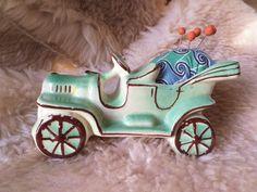 Green Ceramic Pincushion Vintage Nursery Planter Teacup Pincushion Car Pincushion Vintage Boho Pincushion Vintage Inspired by HandbyHand on Etsy
