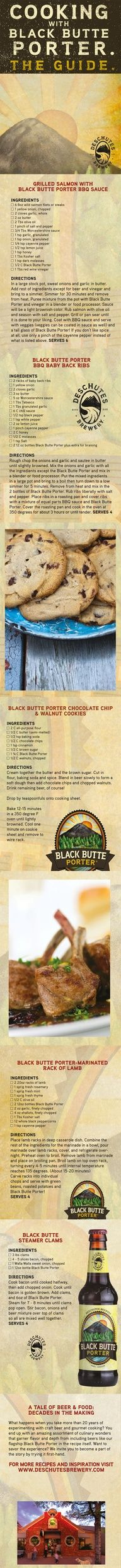 The Guide to Cooking with Black Butte Porter.