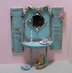 Dollhouse miniature painted furniture Hall Tree