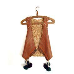 Leather & Knit Waistcoat. by munamiu on Etsy, $99.00