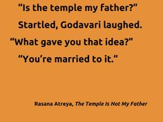 Quote from my novella: The Temple Is Not My Father