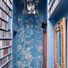 hallway - books, books, books