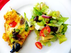 Colored Cauliflower Frittata with Red Pepper, Onions and Brie - Proud Italian Cook
