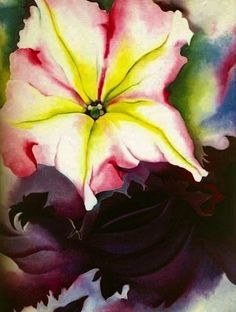 *1989 Georgia O'Keeffe: One Hundred Flowers, 1st Ed, DJ - Art,  Paintings, Watercolors, Vintage