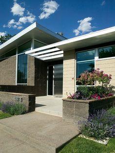 home entryway ideas modern | ... Modern Concept : Striking Entry View Denver Mid Century Modern Home