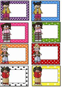 Polka Dot Student Labels Free!