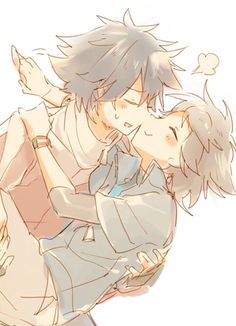 Hugh and Nate, by Namie. I don't ship them, but I wish I could draw this good!!!