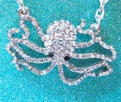 $22.00.  I own this, and love it.  Seriously adorable and a bargain.  RHINESTONE OCTOPUS NECKLACE by MimiJewels on Etsy http://www.etsy.com/listing/113362776/rhinestone-octopus-necklace?ref=shop_home_active