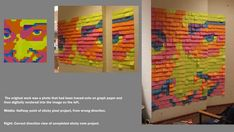 Sticky note art project...