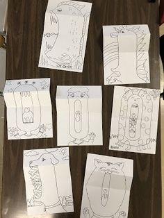 Surprise Creatures For the LAST ART DAY! Elements of the Art Room: Créatures surprises pour le dernier jour d'art! Art Sub Plans, Art Lesson Plans, Art Lessons For Kids, Art Lessons Elementary, Art Games For Kids, Art Education Projects, 2nd Grade Art, Art Worksheets, Cool Art Projects