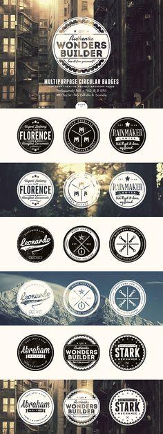 27 Vintage Badges Bundle by Yusof Mining