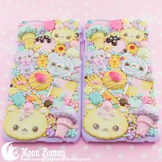 ☆ Sweet Cuties ☆ Cell phone case Type of the cell phone: iphone 6 Materials: polymer clay, epoxy We've made our best to portray the colors of jewelry as accurately as possible, however colors will vary with individual monitors and subject to individual opinion.
