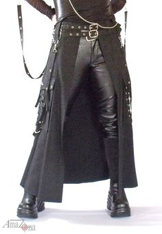 Bondage overlay skirt by AmaZonaFashion on Etsy, $68.00 can be made ourselves and in our colors, but good to have to see... must be the design of an a-line skirt without the front panel...