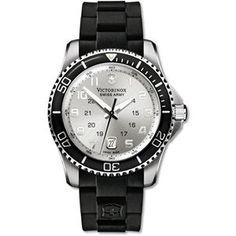 Victorinox Swiss Army Men's Maverick GS Watch - Rubber Strap, Brillian Silver Dial - 249029