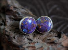 Purple Turquoise Stones set in Sterling by RoseMetalsJewelry, $145.00