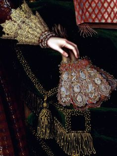 Attributed to Paul van Somer, ca. 1576–1621, Flemish, active in Britain (from 1616), Elizabeth, Countess of Kellie, (detail) ca. 1619, Oil on canvas, Yale Center for British Art, Paul Mellon Collection