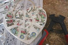 Rooted In Thyme: ~DIY Mosaic China Heart, Rain Boots & Paris Coloring Book and Simple & Sweet Fridays #202~
