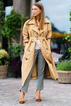 +-+Timeless+pieces+don't+have+to+be+boring.+Jazz+up+a+classic+trench+and+a+checked+trouser+in+a+snap+with+bold+sculptural earrings.