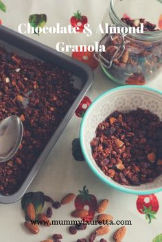 This granola is so simple and quick to make and you can store it for weeks in an airtight container.  You can eat it straight out the jar as a snack, with milk and/or yogurt for breakfast and you could always add in some fresh fruit, cherries would go great.