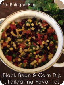 Black Bean & Corn Dip - Healthy & Easy Tailgating Recipe!