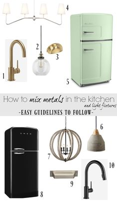 How to Mix Metals in the Kitchen and our Kitchen Faucet - Nesting With Grace Kitchen Taps, Kitchen And Bath, Grace Kitchen, Kitchen Lighting Fixtures, Light Fixtures, Ikea, Home Decor Kitchen, Kitchen Ideas, Kitchen Design